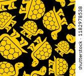 turtle pattern seamless.... | Shutterstock .eps vector #1182978538