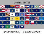 all flags of states of the... | Shutterstock .eps vector #1182978925