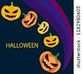 halloween pumpkin vector...   Shutterstock .eps vector #1182980605