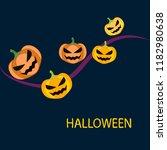 halloween pumpkin vector...   Shutterstock .eps vector #1182980638