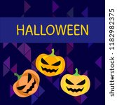 halloween pumpkin vector... | Shutterstock .eps vector #1182982375