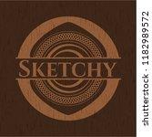 sketchy retro wooden emblem | Shutterstock .eps vector #1182989572