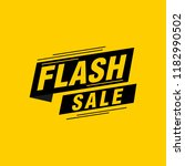 flash sale labels banners | Shutterstock .eps vector #1182990502
