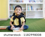 soft focus at handsome asian... | Shutterstock . vector #1182998008
