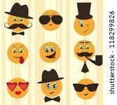 retro smileys | Shutterstock .eps vector #118299826