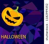 halloween pumpkin vector... | Shutterstock .eps vector #1182999352