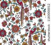 dark enchanted vintage flowers... | Shutterstock .eps vector #1183000012