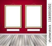 gallery interior with two empty ... | Shutterstock . vector #1183001002