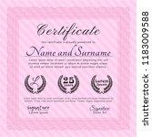 pink diploma. beauty design.... | Shutterstock .eps vector #1183009588