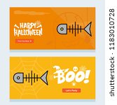 happy halloween invitation... | Shutterstock .eps vector #1183010728