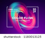 modern colorful flow poster....   Shutterstock .eps vector #1183013125