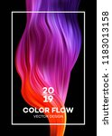 modern colorful flow poster.... | Shutterstock .eps vector #1183013158