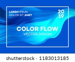 modern colorful flow poster.... | Shutterstock .eps vector #1183013185