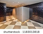 toilet in the piwnica rajcow... | Shutterstock . vector #1183013818