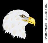 cartoon stylized bald eagle... | Shutterstock .eps vector #1183016182