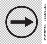 right arrow icon on transparent ... | Shutterstock .eps vector #1183016338