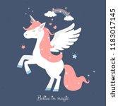 cute unicorn princess  magic...   Shutterstock .eps vector #1183017145