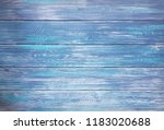 blue painted wooden planks... | Shutterstock . vector #1183020688