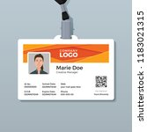 corporate id card template with ... | Shutterstock .eps vector #1183021315