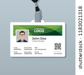 corporate id card template with ... | Shutterstock .eps vector #1183021318