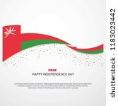 oman happy independence day... | Shutterstock .eps vector #1183023442