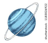 hand drawn uranus planet.... | Shutterstock .eps vector #1183026922