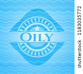 oily water badge. | Shutterstock .eps vector #1183035772