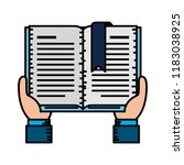 hands with text book | Shutterstock .eps vector #1183038925