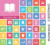 education icon set. very useful ... | Shutterstock .eps vector #1183039642