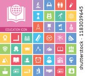 education icon set. very useful ... | Shutterstock .eps vector #1183039645