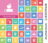 education icon set. very useful ... | Shutterstock .eps vector #1183039648