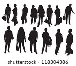 women in different poses | Shutterstock .eps vector #118304386