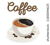 vector cup of coffee | Shutterstock .eps vector #1183044625
