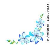 beautiful color flowers ...   Shutterstock . vector #1183044655