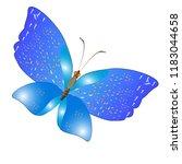 beautiful butterflies  blue...   Shutterstock . vector #1183044658