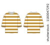 oversized yellow mustard color... | Shutterstock .eps vector #1183047292