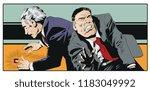 stock illustration. frightened... | Shutterstock .eps vector #1183049992