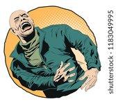 stock illustration. screaming... | Shutterstock .eps vector #1183049995