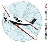 stock illustration. small plane ... | Shutterstock .eps vector #1183050142