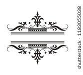 black and white wedding... | Shutterstock .eps vector #1183055038