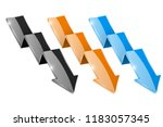 colored shiny down arrows.... | Shutterstock . vector #1183057345