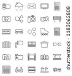 thin line vector icon set  ... | Shutterstock .eps vector #1183062808