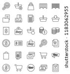 thin line vector icon set  ... | Shutterstock .eps vector #1183062955