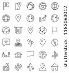 thin line vector icon set  ... | Shutterstock .eps vector #1183063012