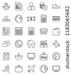 thin line vector icon set  ... | Shutterstock .eps vector #1183065682