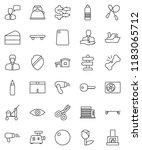 thin line vector icon set  ... | Shutterstock .eps vector #1183065712