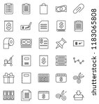 thin line vector icon set  ... | Shutterstock .eps vector #1183065808