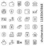 thin line vector icon set  ... | Shutterstock .eps vector #1183065868