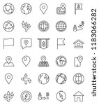 thin line vector icon set  ... | Shutterstock .eps vector #1183066282