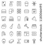 thin line vector icon set  ... | Shutterstock .eps vector #1183066495